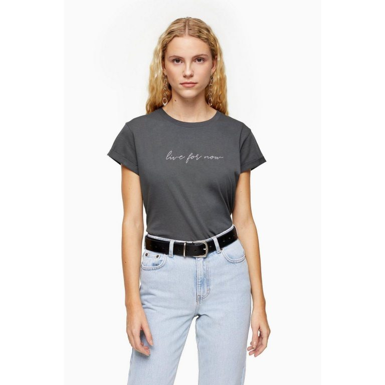 T-shirt Live For Now anthracite - Femme grande