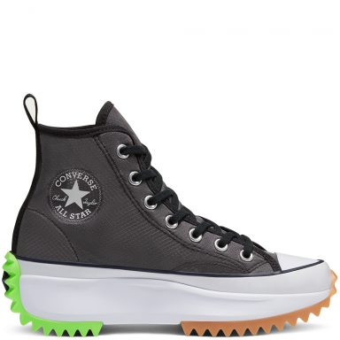 Unisex Concrete Heat Run Star Hike High Top Black/White/Ghost Green grande taille