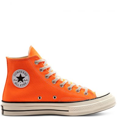 Vintage Canvas Chuck 70 High Top Total Orange/Egret/Black grande taille
