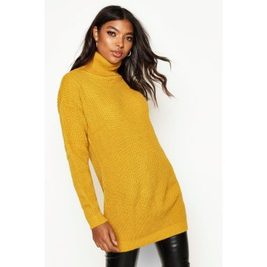 Pull col roulé Tall - Jaune moutarde