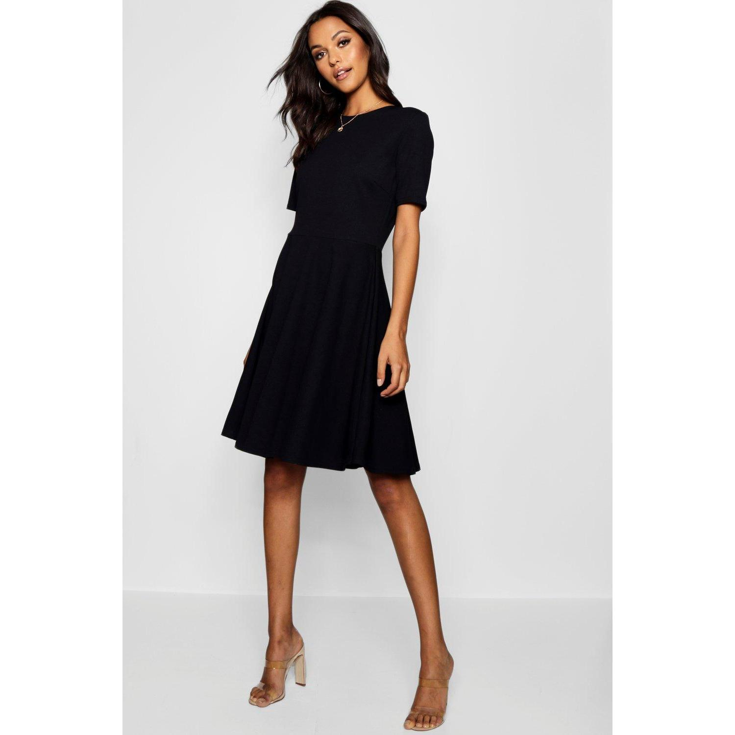 Robe Patineuse A Manches Courtes Tall Noir Selection Grandshopping Fr
